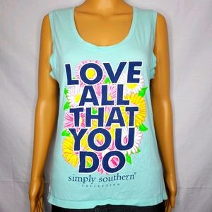 """SIMPLY SOUTHERN """"LOVE ALL THAT YOU DO"""" TANK TOP S"""